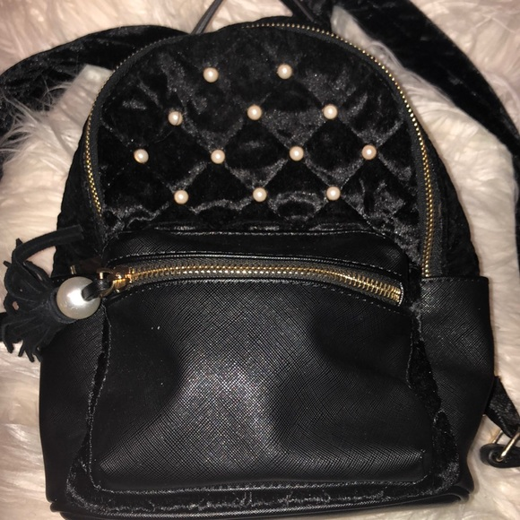 bfe6c5758e0 Bags   Black Velvet Mini Backpack   Poshmark